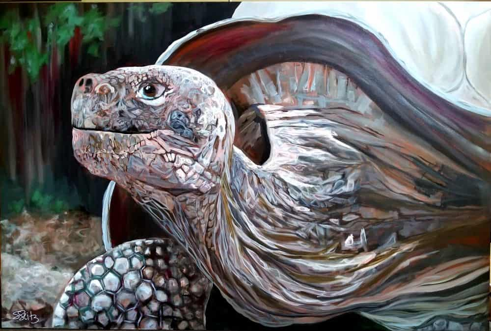 SOLD [Commissioned 5'x6'] - The Tortoise