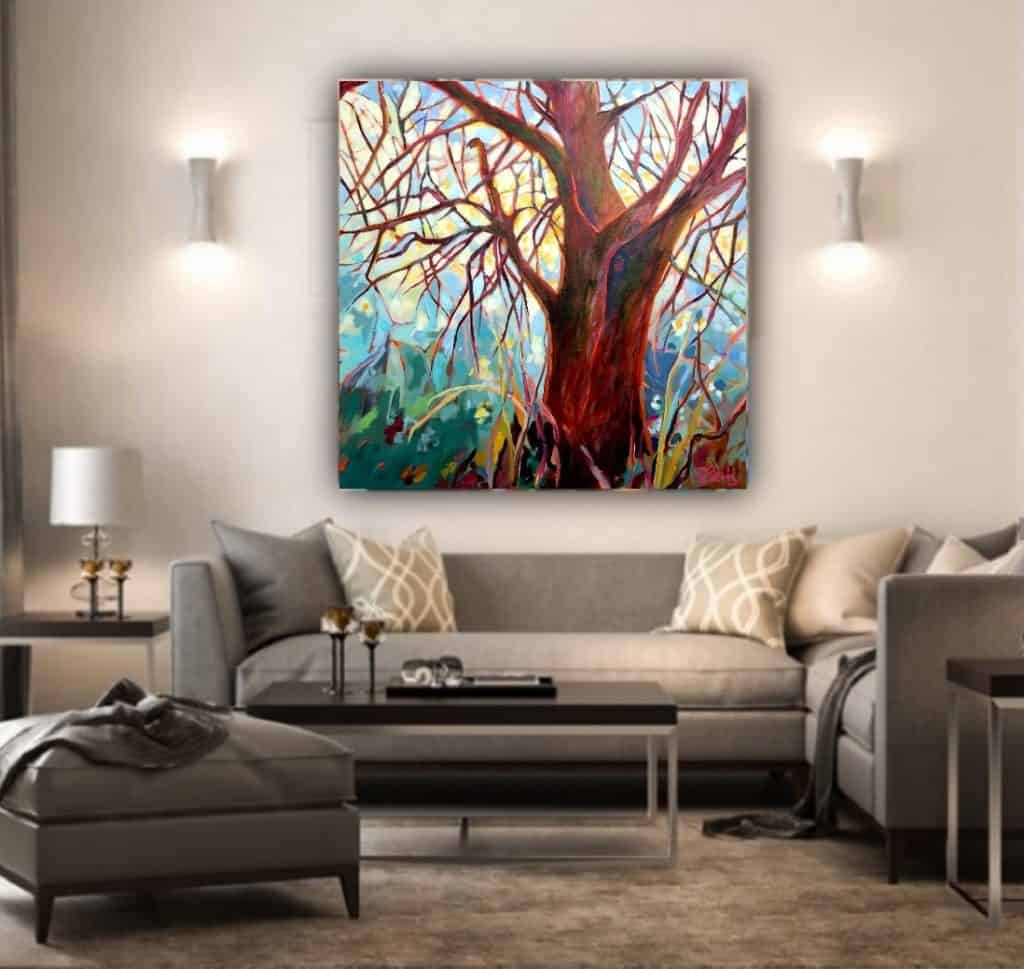Canadian Artist 2020 Collection JUNE Wild Heart original acrylic painting